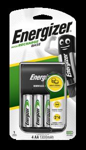 S4814 Energizer Base Charger +4 AA 1300MAH Batteries