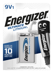 S5742 Energizer 9V Ultimate Lithium, Pack Of 1