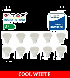 V-TAC 5W GU10 400lm 6400K (10 Pack)