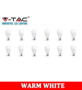 V-TAC 259D 9W A60 Plastic Bulb With Samsung Chip Colorcode:3000K B22 DIMMABLE 12PCS/PACK