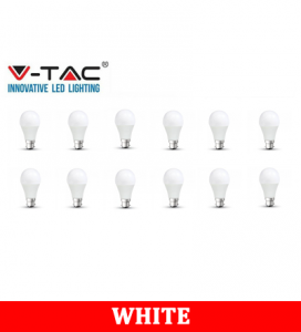 V-TAC 281 15W A65 Plastic Bulb With Samsung Chip Colorcode:6400K B22 12PCS/PACK