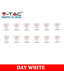 V-TAC 275D 5W Plastic Spotlight With Samsung Chip Colorcode:4000K GU10 dimmable 12PCS/PACK