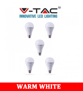 V-TAC 281 15W A65 Plastic Bulb With Samsung Chip Colorcode:3000K B22 5PCS/Pack