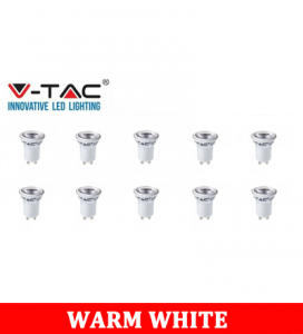 V-TAC 232 2W GU10 Plastic Spotlight With Samsung Chip Colorcode:3000K MR11 10PCS/Pack