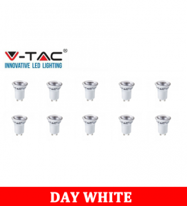 V-TAC 232 2W GU10 Plastic Spotlight With Samsung Chip Colorcode:4000K MR11 10PCS/Pack