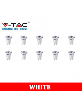 V-TAC 232 2W GU10 Plastic Spotlight With Samsung Chip Colorcode:6400K MR11 10PCS/Pack