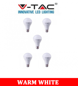 V-TAC 233 20W A80 LED Plastic Bulb With Samsung Chip Colorcode:3000K E27 5PCS/Pack
