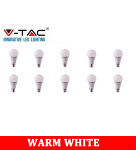 V-TAC 259D 9W A60 Plastic Bulb With Samsung Chip Colorcode:3000K B22 DIMMABLE