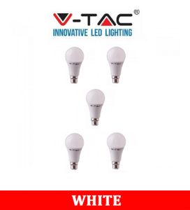 V-TAC 231 11W A60 Plastic Bulb With Samsung Chip Colorcode:6400K B22 5PCS/Pack