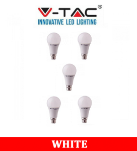 V-TAC 229 9W A58 Plastic Bulb With Samsung Chip Colorcode:6400K B22 5PCS/Pack