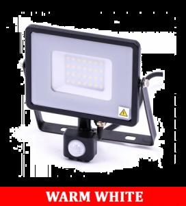 V-TAC 30-S 30W SMD PIR Sensor Floodlight With Samsung Chip Colorcode:3000K Black Body Grey Glass