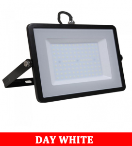 V-TAC100 100w Smd Floodlight With Samsung Chip Colorcode:4000k Black Body Grey Glass (120lm/W)