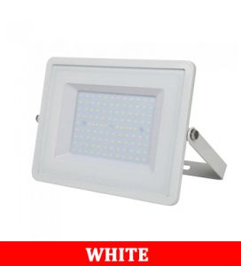 V-Tac 106 100W SMD FLOODLIGHT WITH SAMSUNG CHIP COLORCODE:6400K WHITE BODY WHITE GLASS (120LM/W)