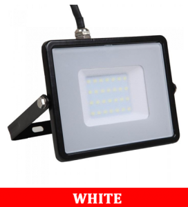 V-TAC 30-1 30W SMD Floodlight With Samsung Chip & Cable(1m) Colorcode :6400K BLACK BODY