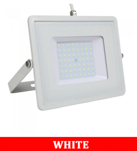 V-TAC 50-1 50W SMD Floodlight With Samsung Chip & Cable(1m) Colorcode:6400K White Body