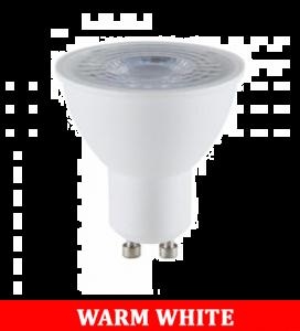 V-TAC 2305 5W GU10 Plastic Spotlight With Ic Driver & Lens Colorcode:3000K 38'D