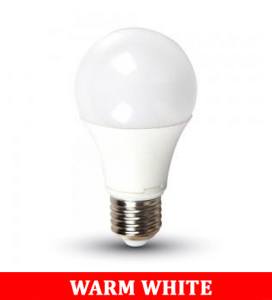 V-TAC 2099 9W A60 Thermal Plastic Bulbs Colorcode:2700k E27