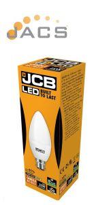 Jcb Quality 3W LED Candle 250lm OPAL B22 3000k