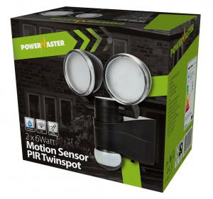 Powermaster Outdoor Led Twinspot Pir Motion Sensor