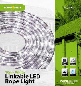 Powermaster Led 10m Linkable Rope Light White