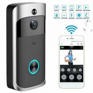 Black Smart WiFi Wireless High Quality Video Doorbells