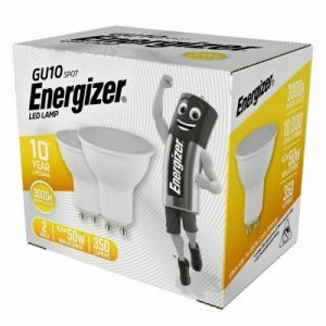 2, 4, 6, 8 or 10 ENERGIZER GU10, GLS E27, GLS B22, CANDLE, E14 GOLF WARM WHITE