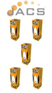 Jcb Led Candle 470lm OPAL B22(BC) 3000K, Pack Of 5