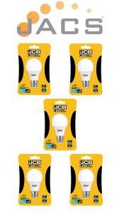 Jcb Led A60 806lm OPAL E27 (ES) 3000K, Pack Of 5