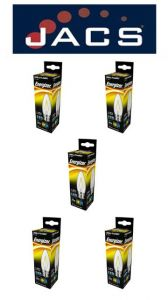 Energizer Filament Led Candle 250lM 2.4W B22 (BC) Warm White, Pack Of 5