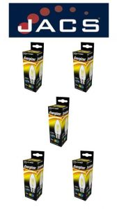 Energizer Filament Led Candle 470LM 4W B22 (BC ) Warm White, Pack Of 5