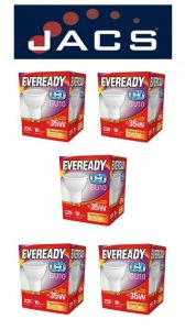 Eveready Led GU10 235LM Warm White, PACK OF 5