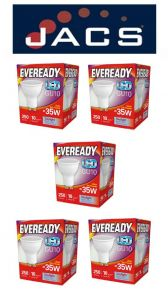 Eveready Led GU10 250LM Daylight, PACK OF 5