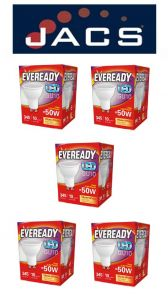 Eveready Led GU10 345LM Warm White, PACK OF 5