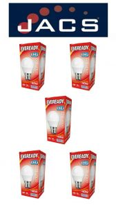 Eveready Led Golf 480LM OPAL B22 (BC) Daylight, Pack Of 5