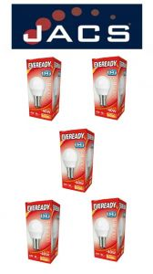Eveready Led Golf 470LM OPAL B15 (SBC) Warm White, PACK OF 5