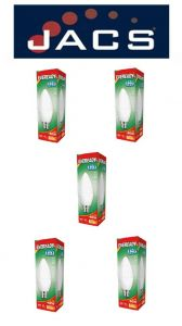 Eveready Led Candle 470LM Opal B22 (BC) Warm White, Pack Of 5