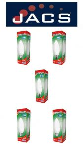 Eveready Led Candle 480LM OPAL B22 (BC) Daylight, Pack Of 5