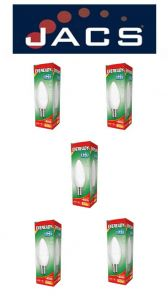 Eveready Led Candle 470LM Opal B15 (SBC) Warm White, Pack Of 5