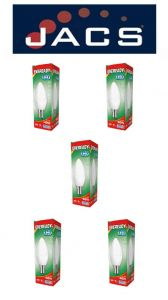 Eveready Led Candle 480LM OPAL B15 (SBC) Daylight, Pack Of  5