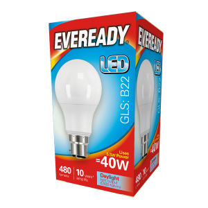 Eveready Led GLS 470LM B22 (BC) Daylight