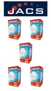 Eveready Led GLS 806LM B22 (BC) Warm White,Pack Of 5