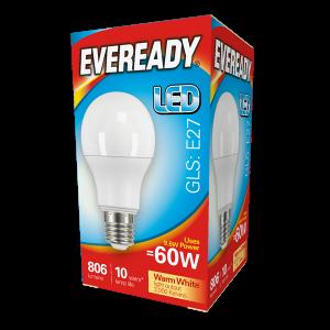 Eveready Led GLS 806LM E27 (ES) Warm White