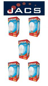 Eveready Led GLS 1521LM B22 (BC) Warm White, Pack Of 5