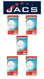 Eveready Led GLS 470LM B22 (BC) Cool White, Pack Of 5