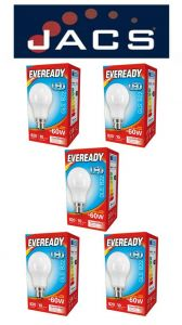 Eveready Led GLS 806LM B22 (ES) Cool White, PACK OF 5