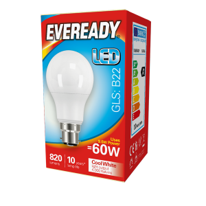 Eveready Led GLS 806LM B22 (ES) Cool White