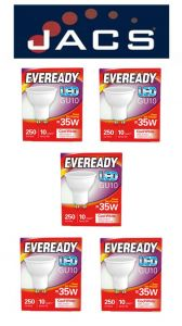 Eveready Led GU10 235LM Cool White, PACK OF 5