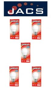 Eveready Led Golf 480LM OPAL B22 (BC) Cool White, Pack Of 5