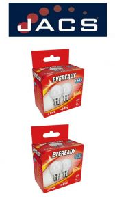 Eveready Led Golf 470LM OPAL B22 (BC) Warm White, PACK OF 4