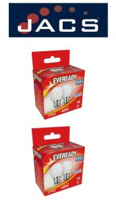 Eveready Led Golf 480LM OPAL B22 (BC) Daylight, Pack Of 4